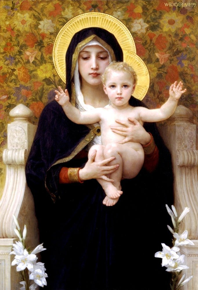 La Vierge Au Lys | William Bouguereau | oil painting