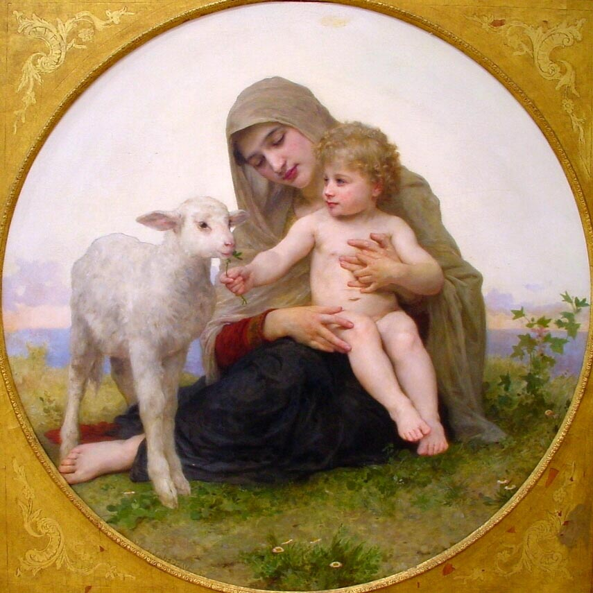 La Vierge A Lagneau | William Bouguereau | oil painting