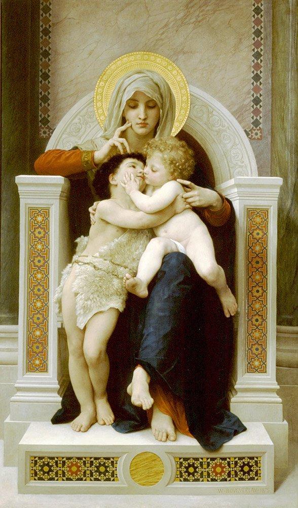 La Vierge Lenfant Jesus Et Saint Jean Baptiste | William Bouguereau | oil painting