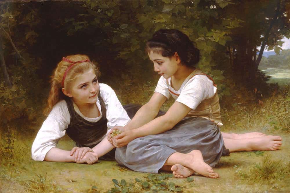 Les Noisettes | William Bouguereau | oil painting