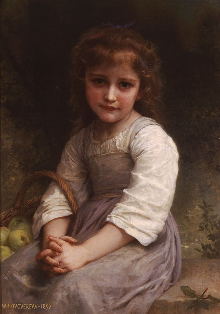 Les Pommes | William Bouguereau | oil painting