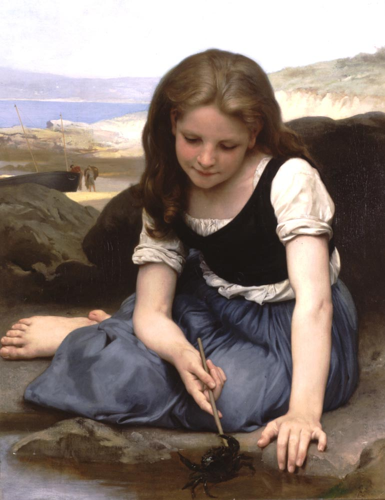 Le Crab | William Bouguereau | oil painting