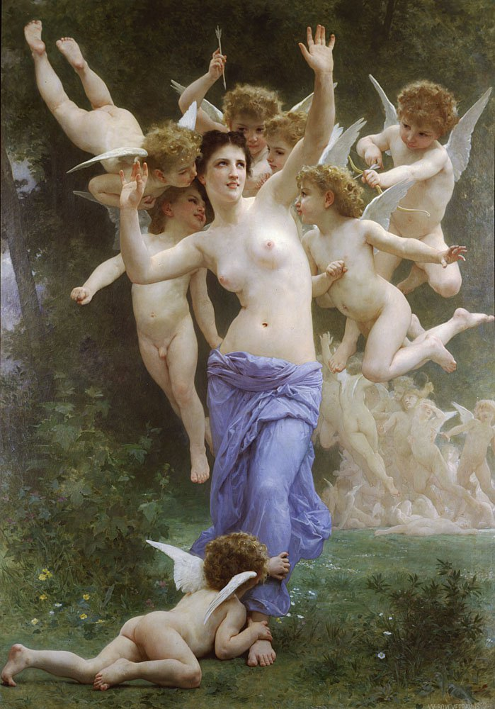 Le Guepier | William Bouguereau | oil painting