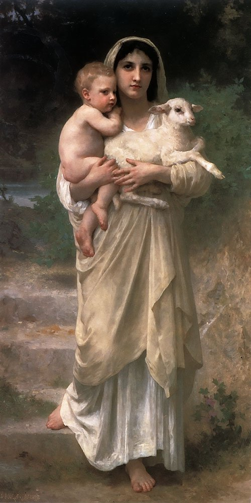 Le Jeune Bergere 1897 | William Bouguereau | oil painting
