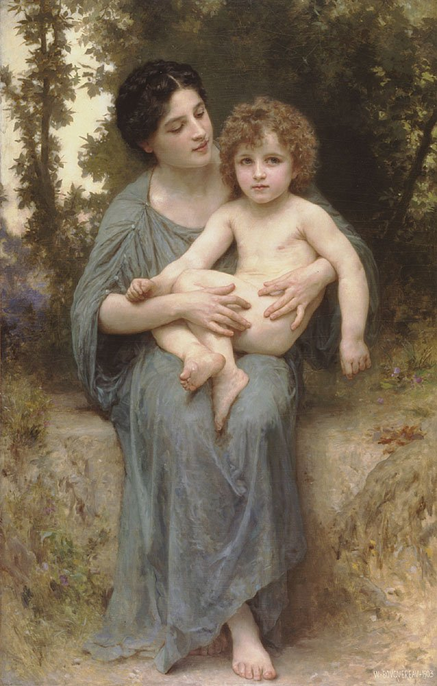 Le Jeune Frere | William Bouguereau | oil painting