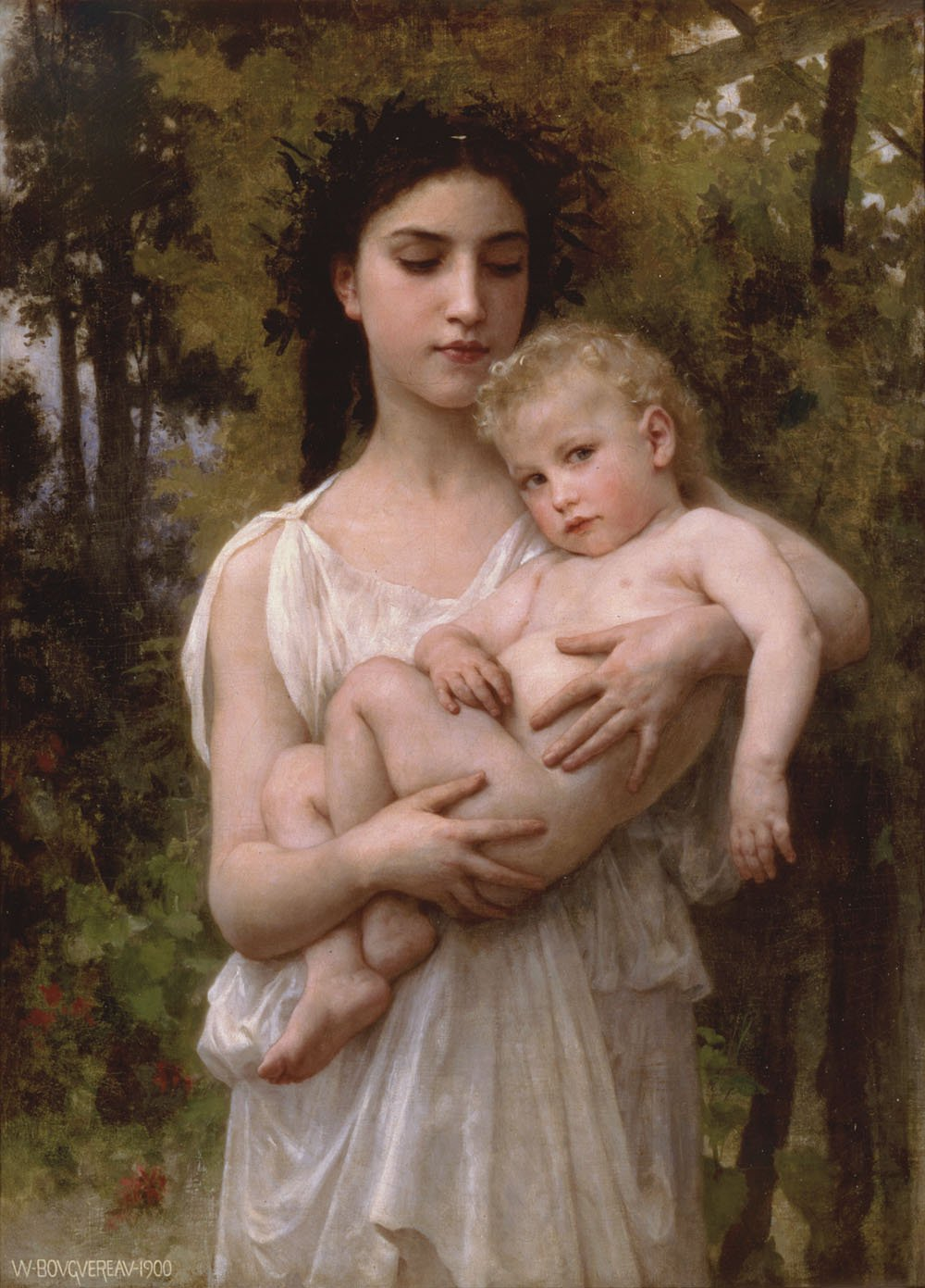 Le Jeune Frere 1900 | William Bouguereau | oil painting