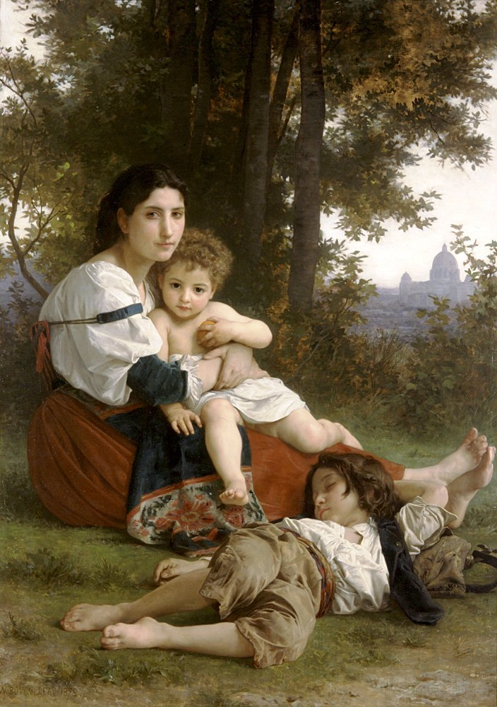 Le Repos | William Bouguereau | oil painting