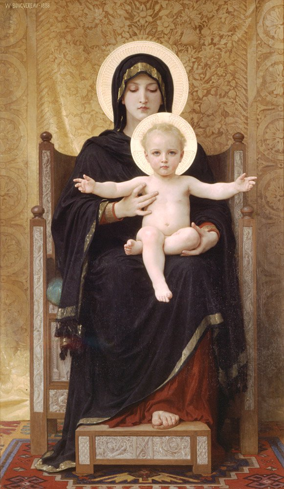 Madone Assise | William Bouguereau | oil painting