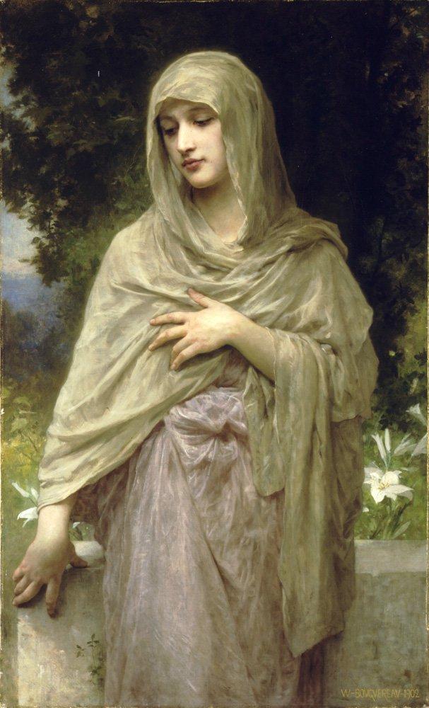 Modestie   William Bouguereau   oil painting