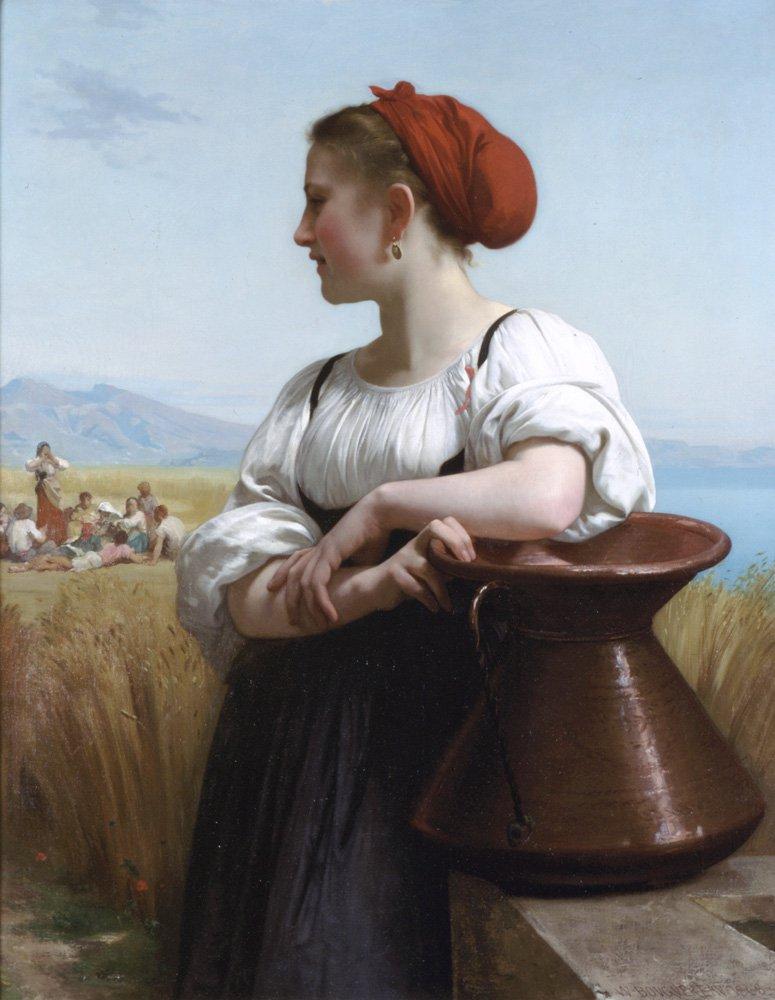 Moissoneuse   William Bouguereau   oil painting