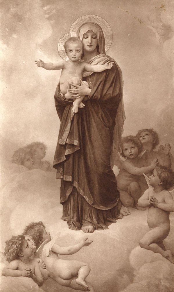 Notre-Dame Des Anges   William Bouguereau   oil painting