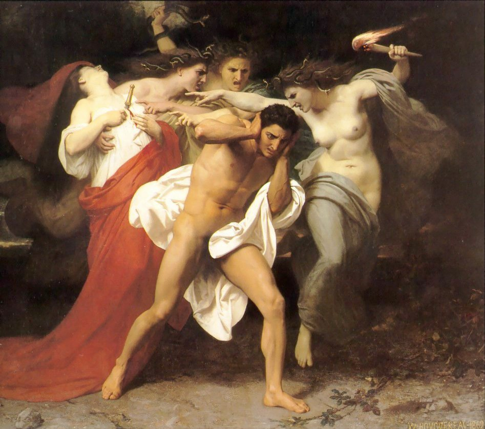 Orestes Pursued By The Furies | William Bouguereau | oil painting