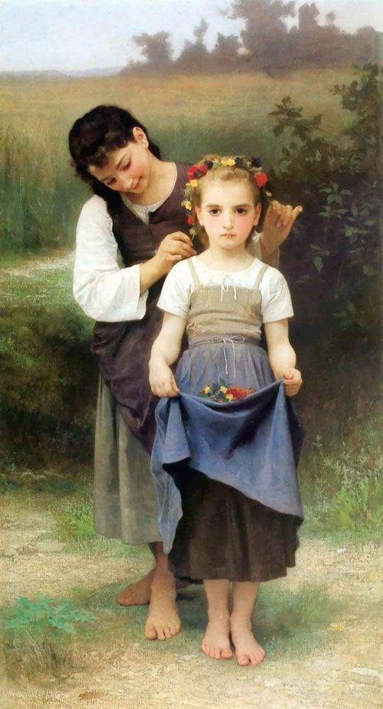 Parure Des Champs   William Bouguereau   oil painting