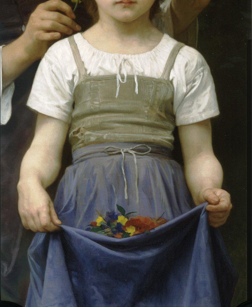 Parure Des Champs Bt Right   William Bouguereau   oil painting