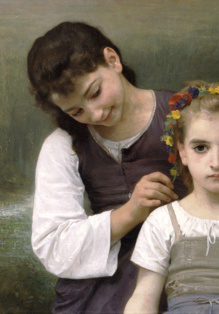 Parure Des Champs Left   William Bouguereau   oil painting