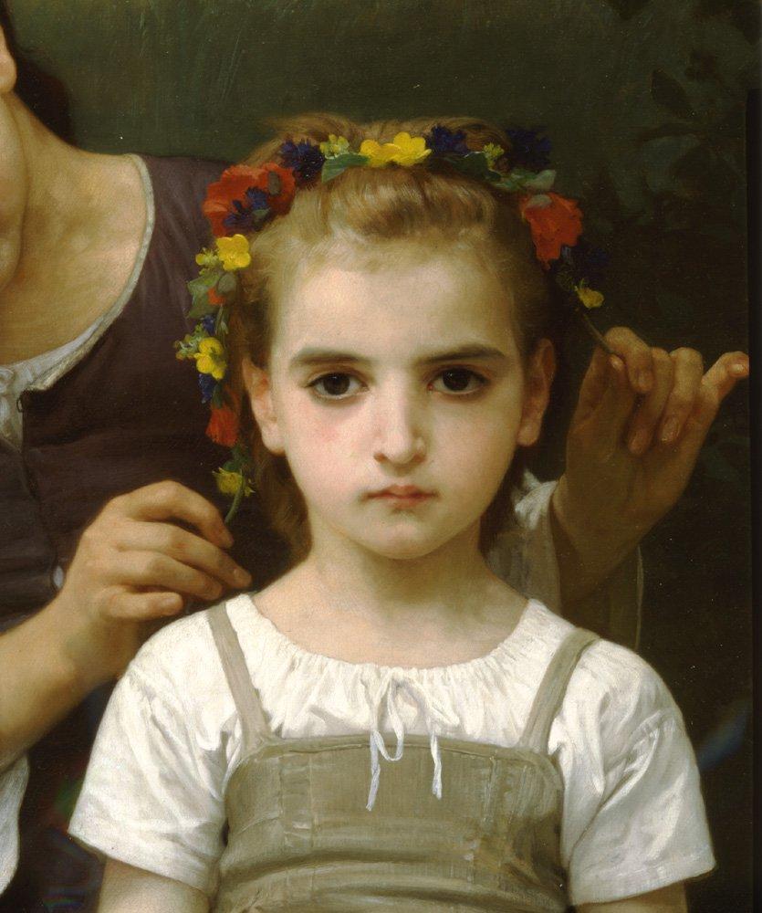 Parure Des Champs Right   William Bouguereau   oil painting