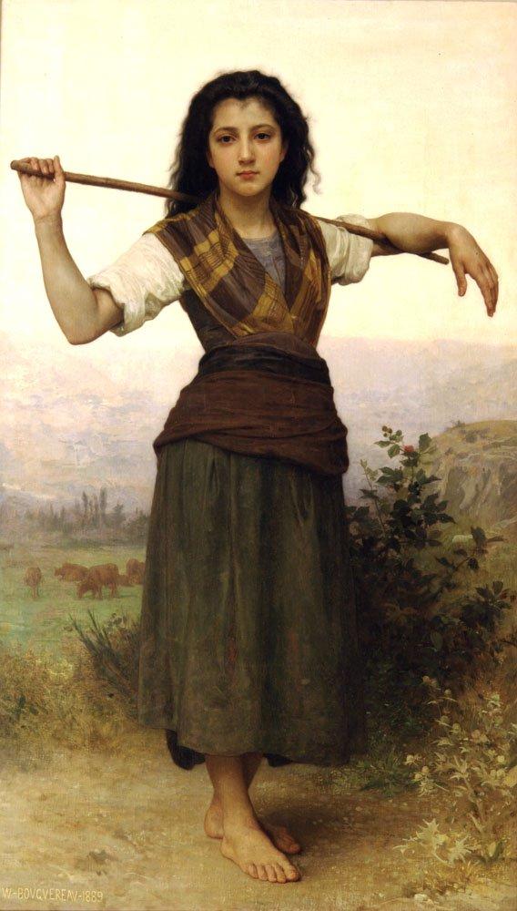 Pastourelle   William Bouguereau   oil painting