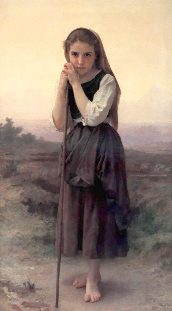 Petite Bergere   William Bouguereau   oil painting