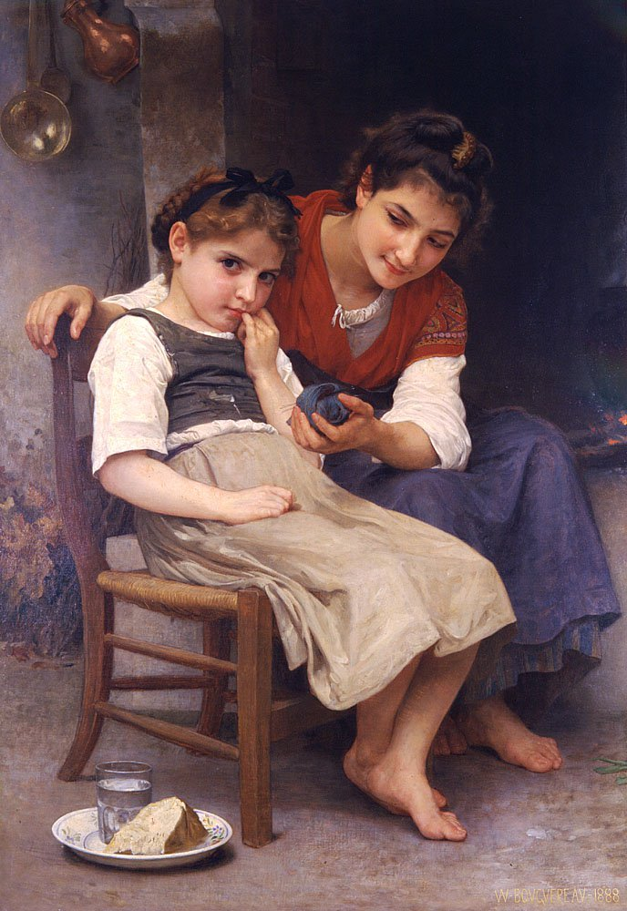 Petite Boudeuse   William Bouguereau   oil painting