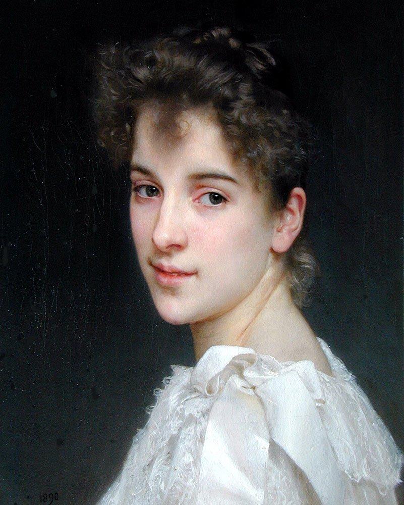 Portrait De Gabrielle Drienza   William Bouguereau   oil painting