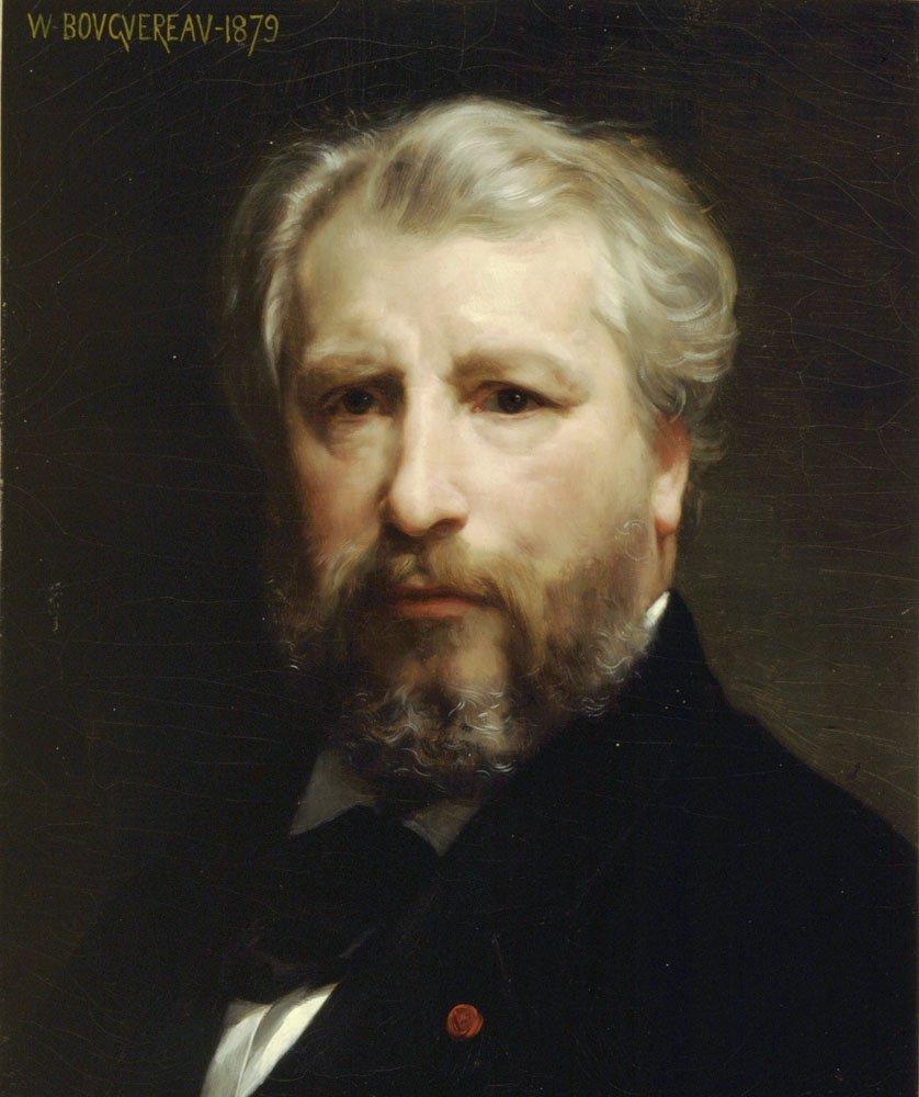 Portrait De Lartiste   William Bouguereau   oil painting