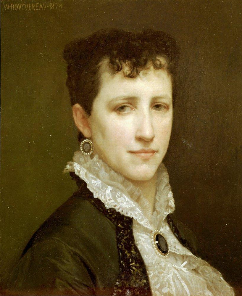 Portrait De Mademoiselle Elizabeth Gardner   William Bouguereau   oil painting