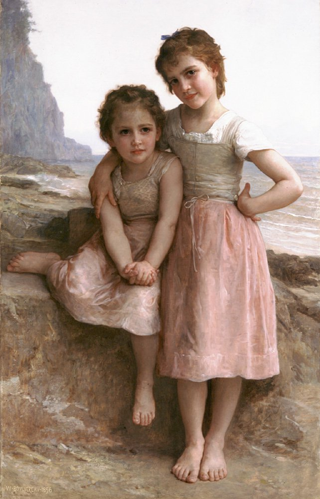 Sur La Greve | William Bouguereau | oil painting