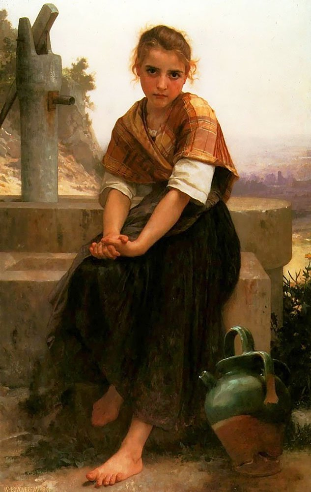 The Broken Pitcher | William Bouguereau | oil painting