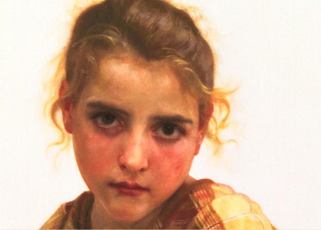 The Broken Pitcher Detail | William Bouguereau | oil painting