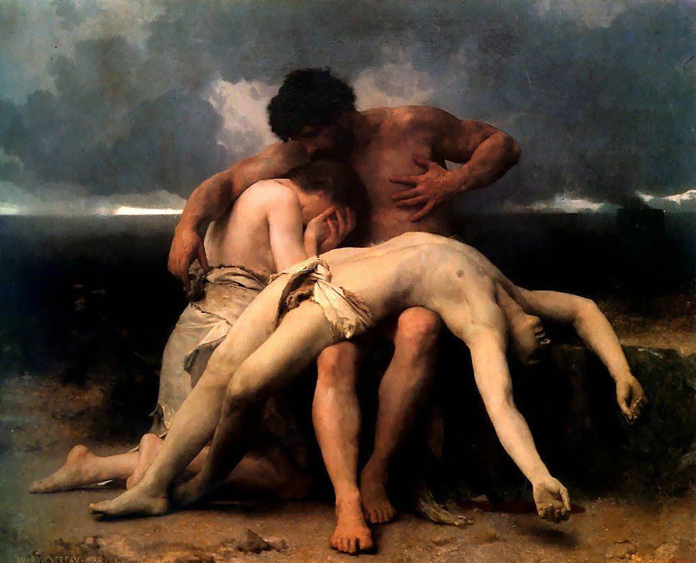 The First Mourning | William Bouguereau | oil painting