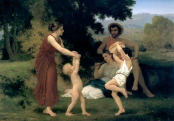 The Pastoral Recreation 1868 | William Bouguereau | oil painting