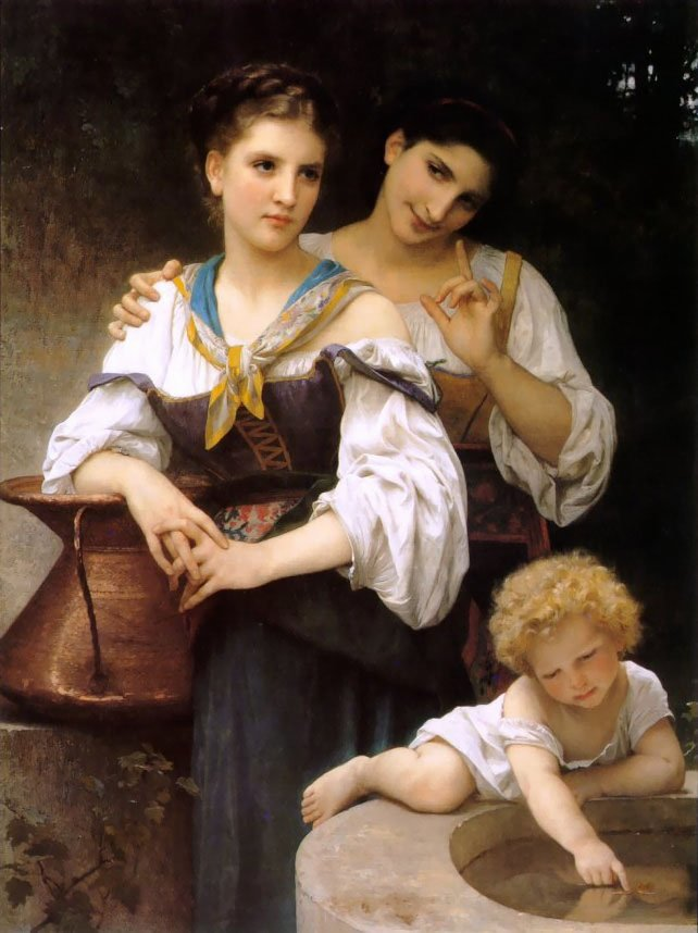 The Secret | William Bouguereau | oil painting