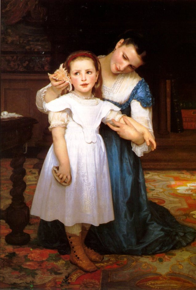 The Shell | William Bouguereau | oil painting