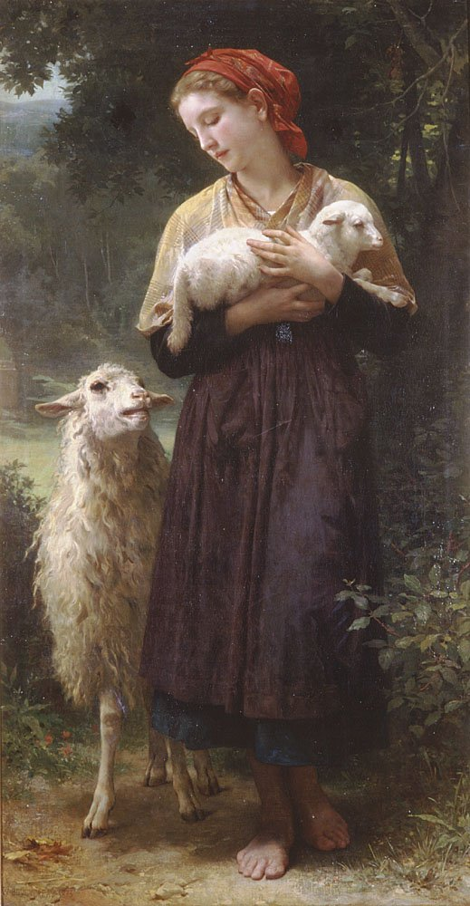 The Shepherdess 1873 | William Bouguereau | oil painting