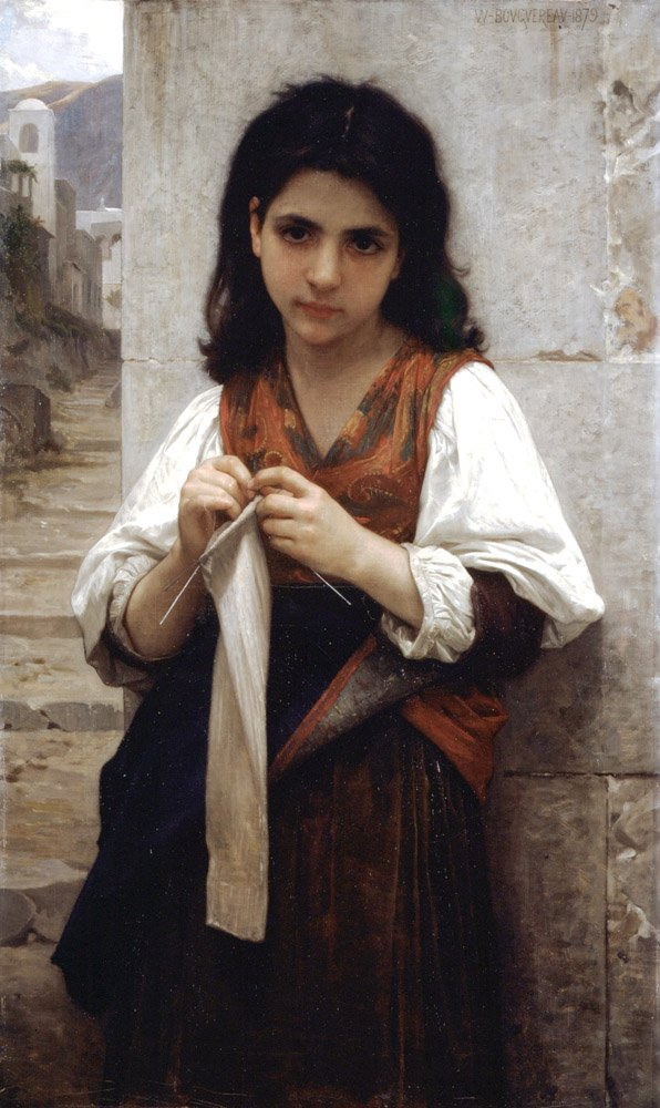 Tricoteuse 1879 | William Bouguereau | oil painting