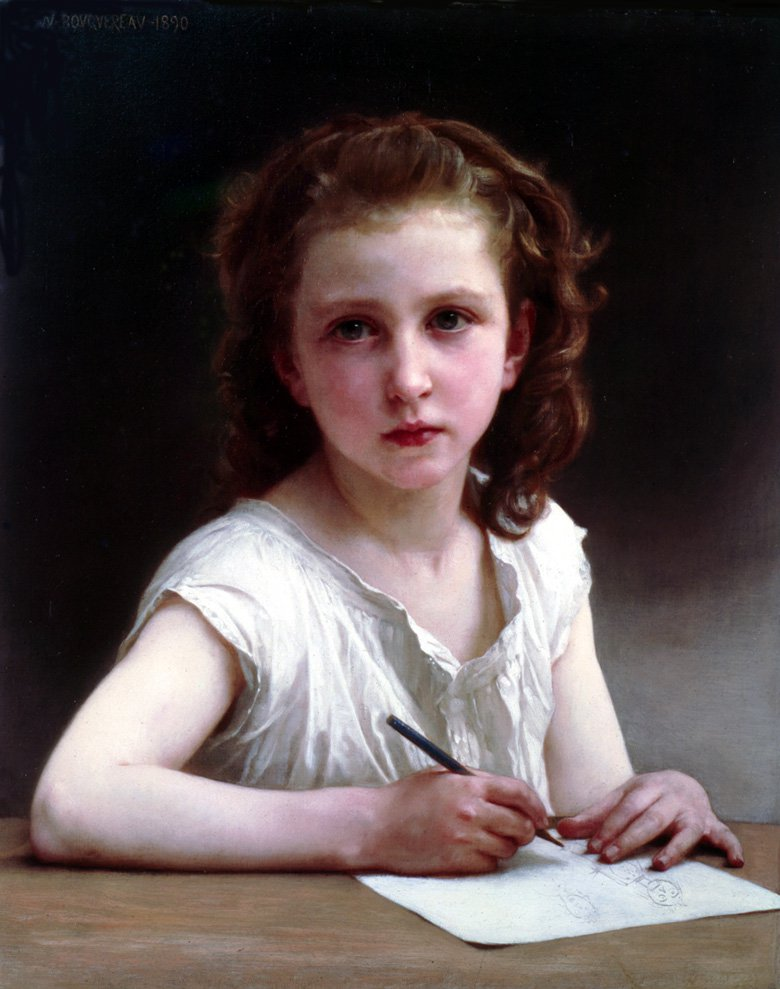 Une Vocation | William Bouguereau | oil painting