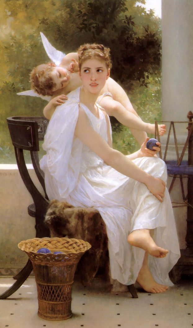 Work Interrupted | William Bouguereau | oil painting