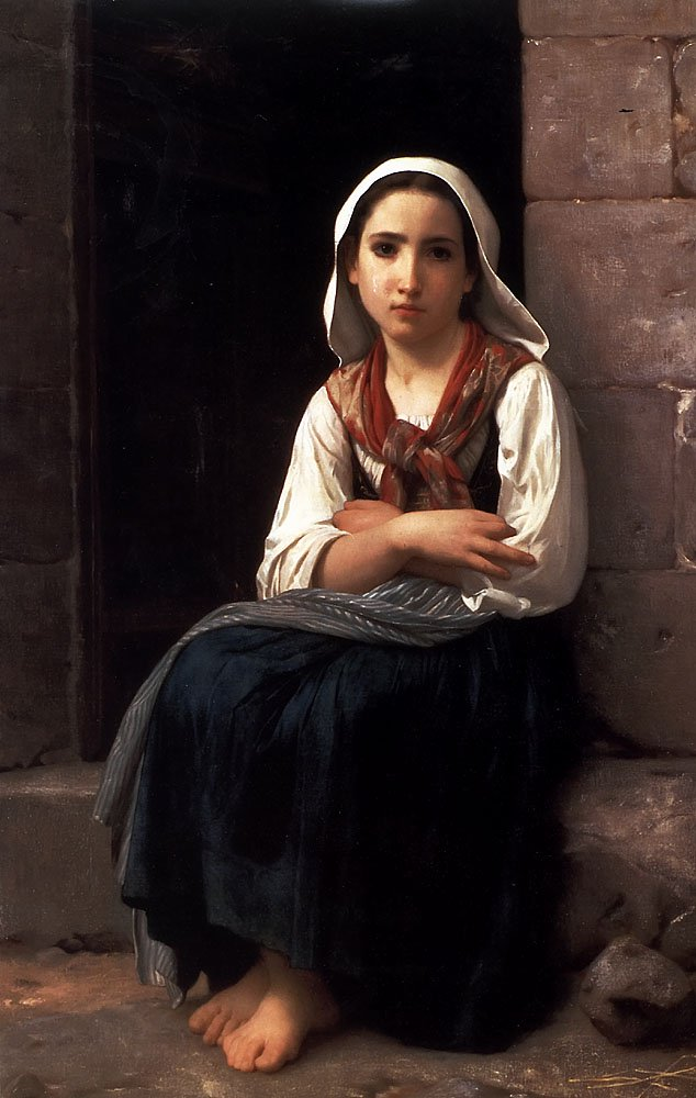 Yvonette | William Bouguereau | oil painting