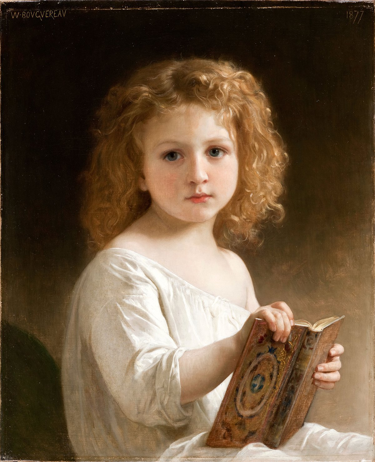 Story Book | William Bouguereau | oil painting