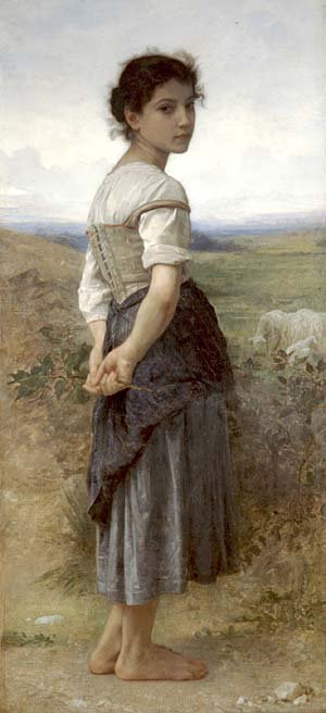 Young Shepherdess | William Bouguereau | oil painting