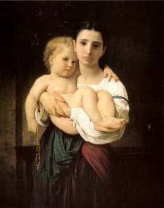 The Elder Sister | William Bouguereau | oil painting