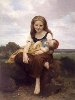 The Elder Sister II | William Bouguereau | oil painting