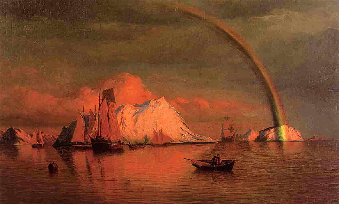 Arctic Sunset with Rainbow  1877 | William Bradford | oil painting