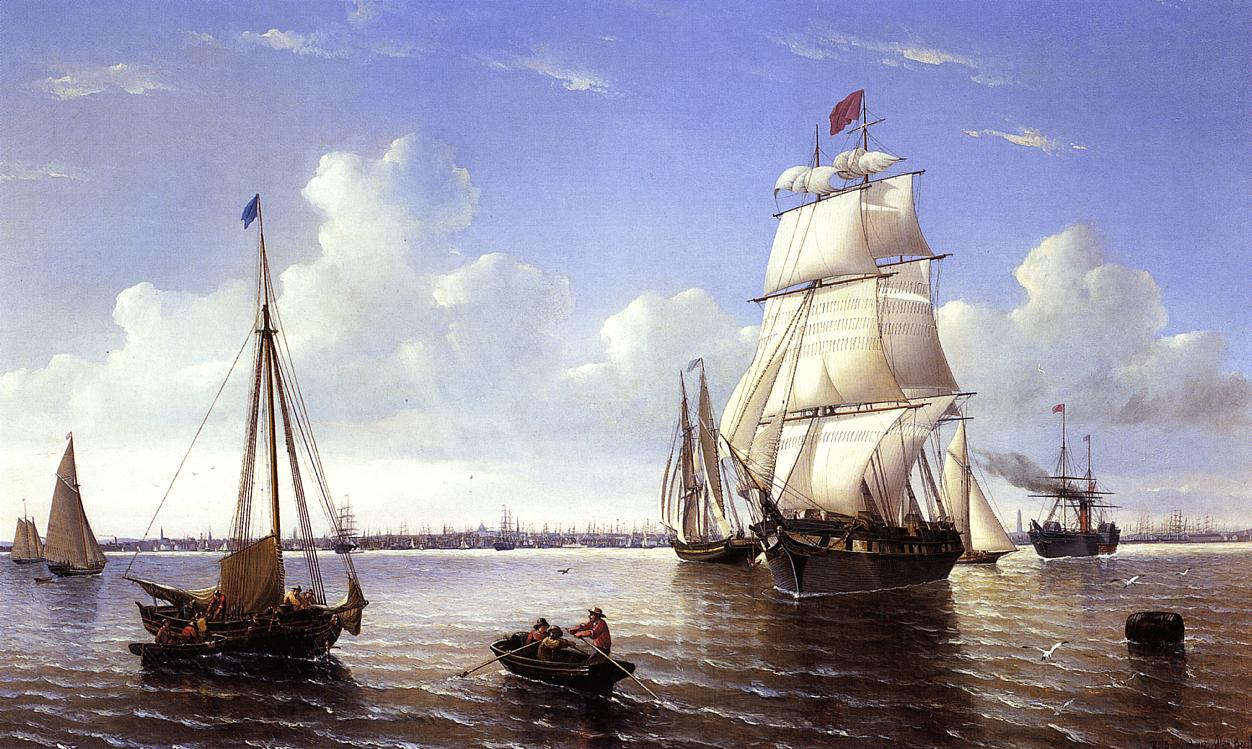 Boston Harbor  1857 | William Bradford | oil painting
