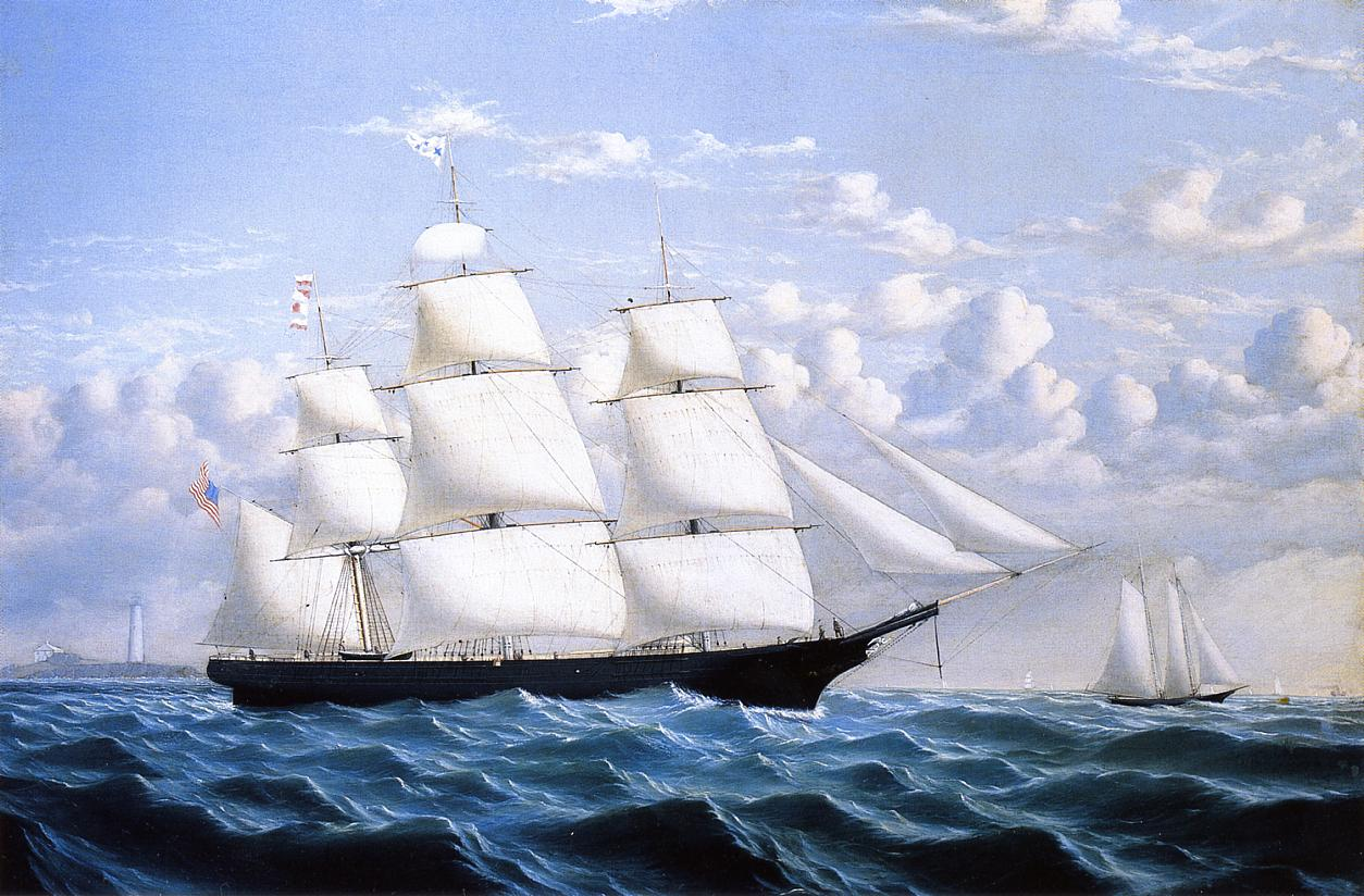 Clipper Ship Northern Light of Boston | William Bradford | oil painting