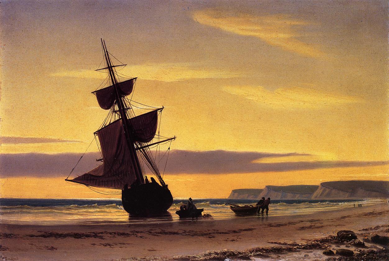 Coastal Scene  1860 | William Bradford | oil painting