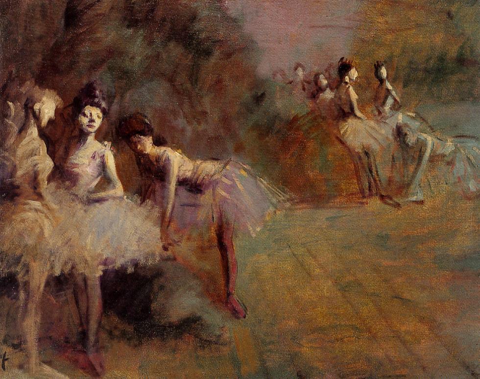 Dancers Resting  1905 | William Bradford | oil painting