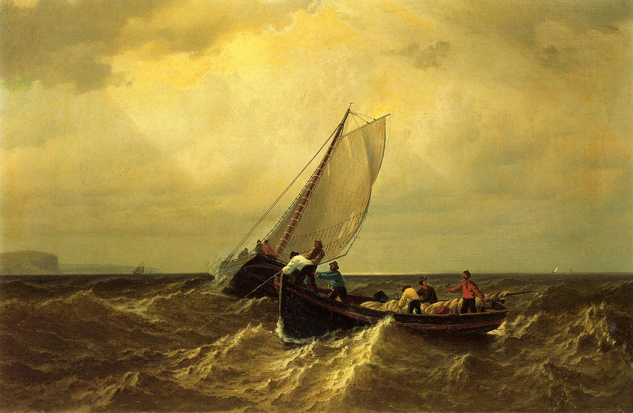 Fishing Boats on the Bay of Fundy  1860 | William Bradford | oil painting