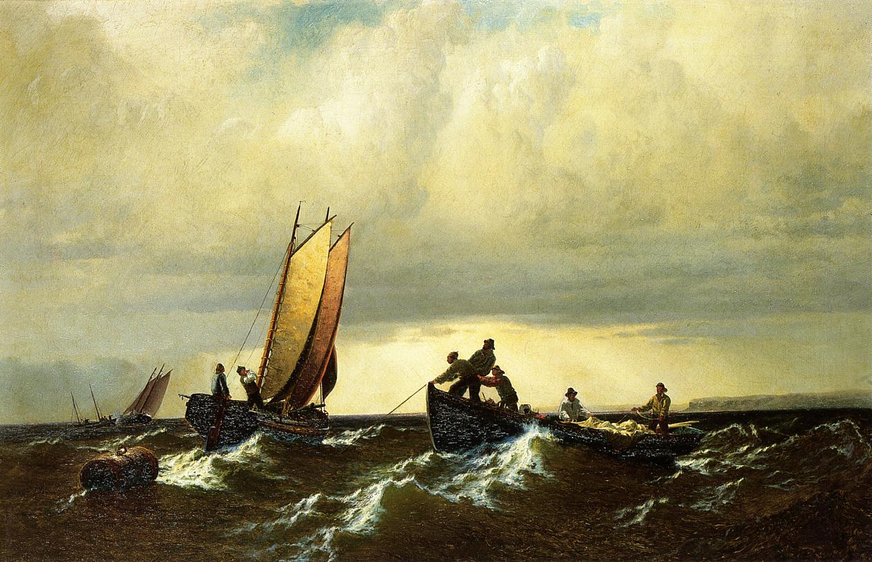 Fishing Boats on the Bay of Fundy  1861 | William Bradford | oil painting