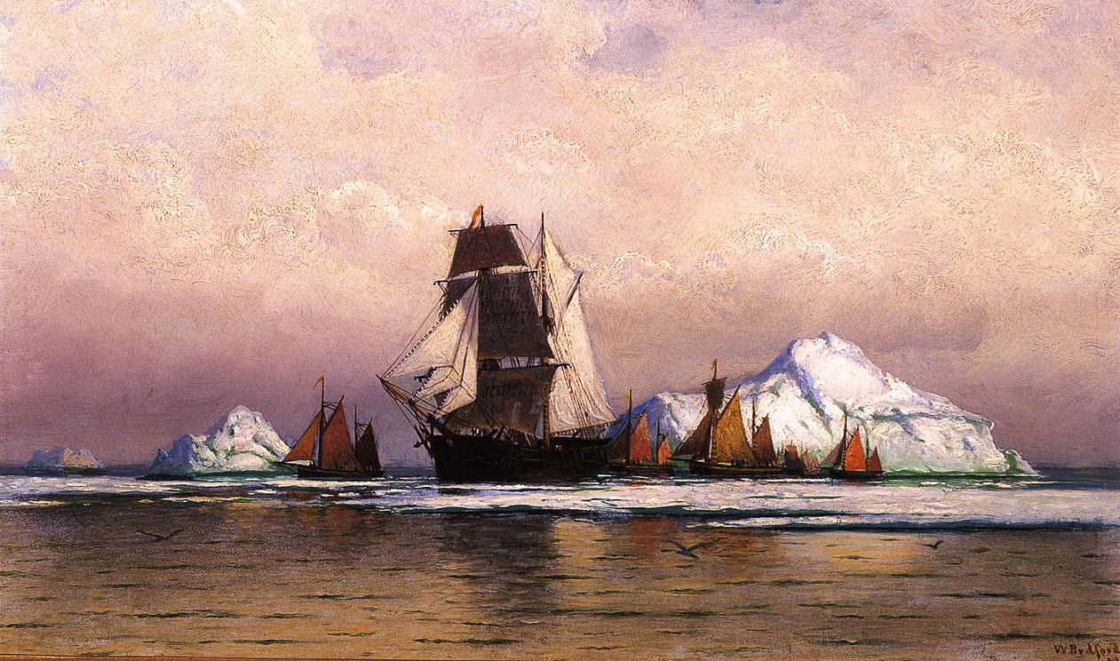 Fishing Fleet off Labrador  1870-1879 | William Bradford | oil painting